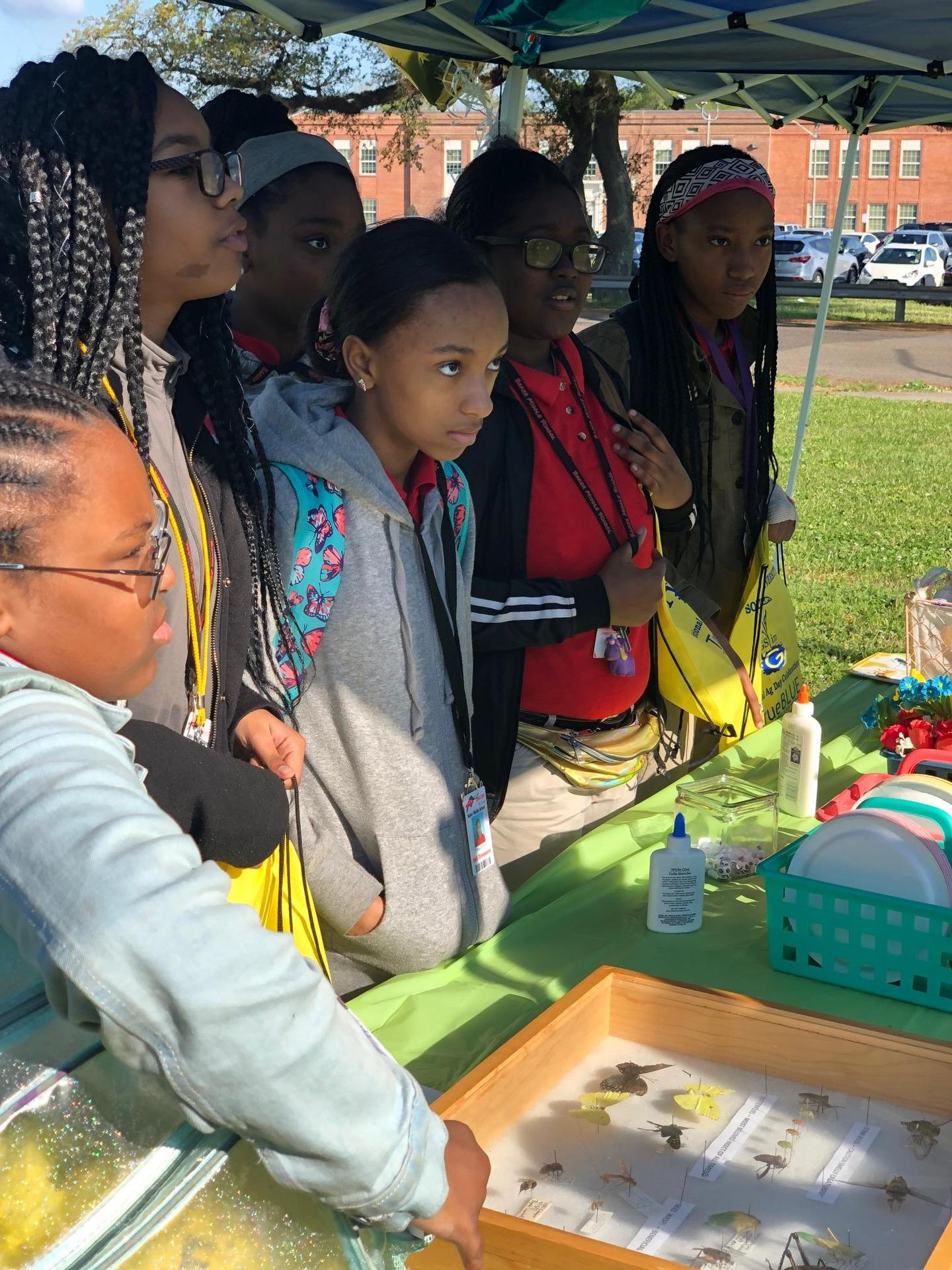 Baker Middle School JAG, 4H, and science students attended Ag Day at Southern University.