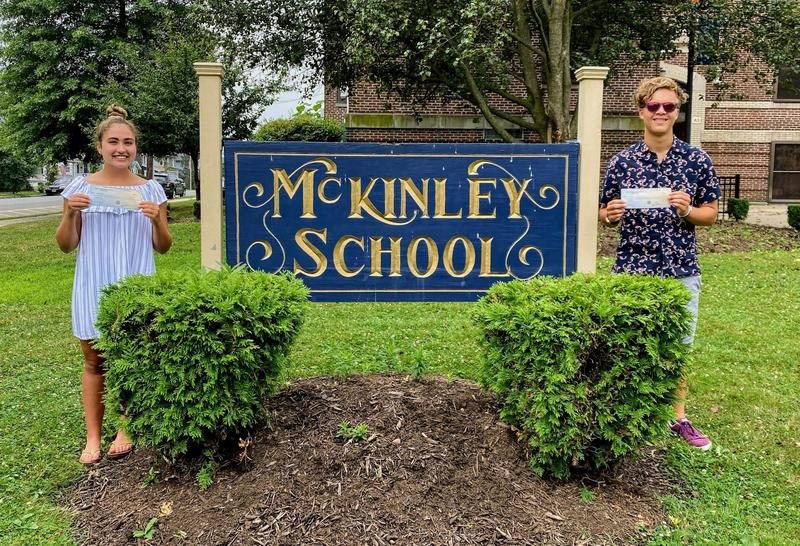 Photo of two WHS recipients of the McKinley PTO Scholarship.