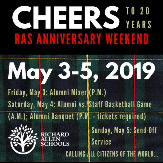 RAS Anniversary Celebration New Date Announced! Featured Photo