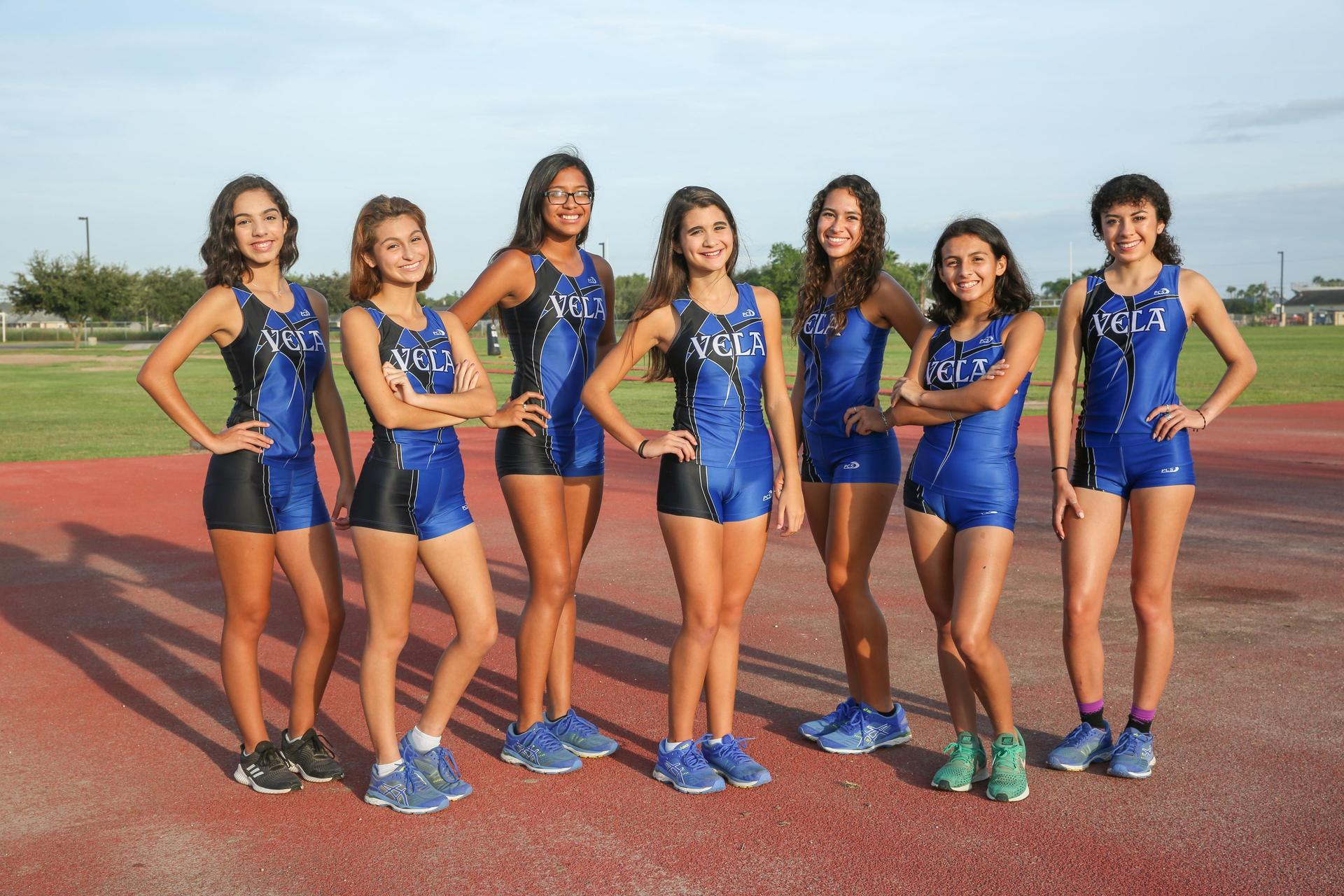 Image of: VARSITY TEAM: Iliana Garza, Jasmine Alcoser, Jennifer Ruiz, Denise Ramos, Renae Diaz, Alyssa Galvan, Liliana Perez