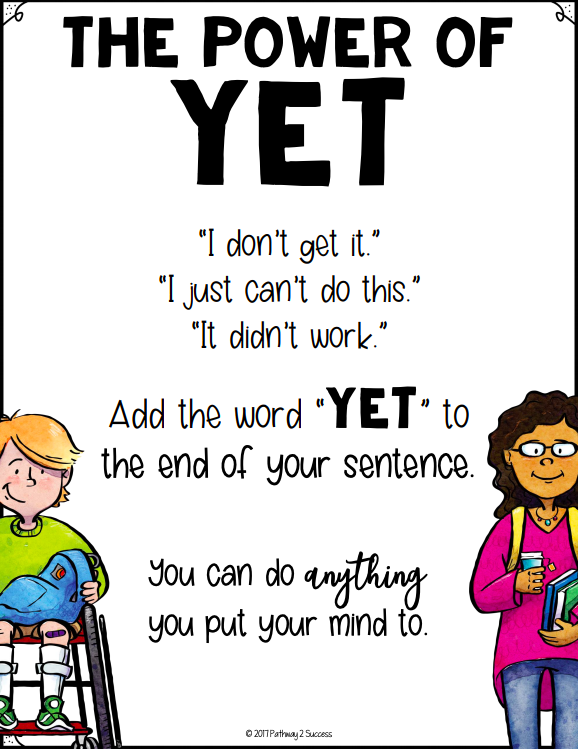Power of Yet anchor chart