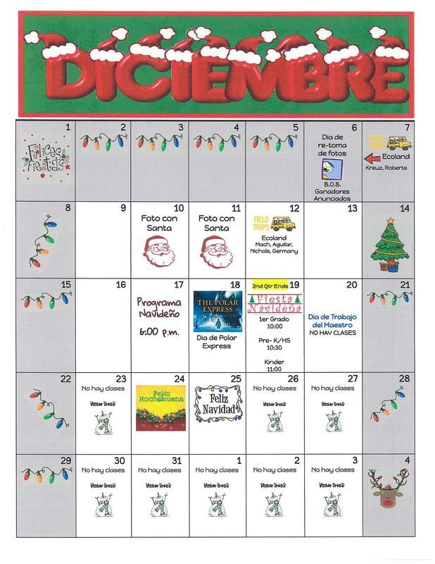 Calendario de Diciembre Featured Photo