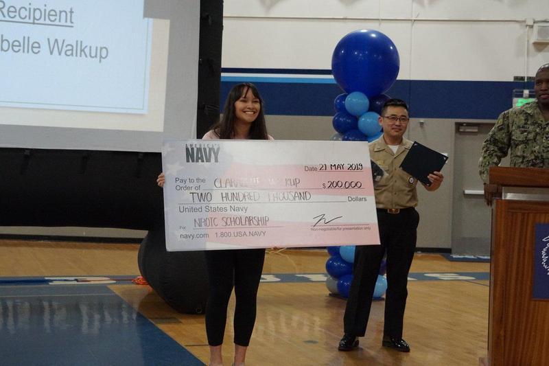student board member receiving 200,000 dollar scholarship
