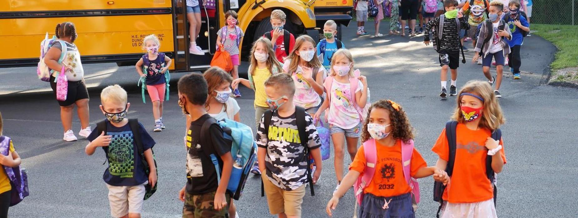 arriving to school