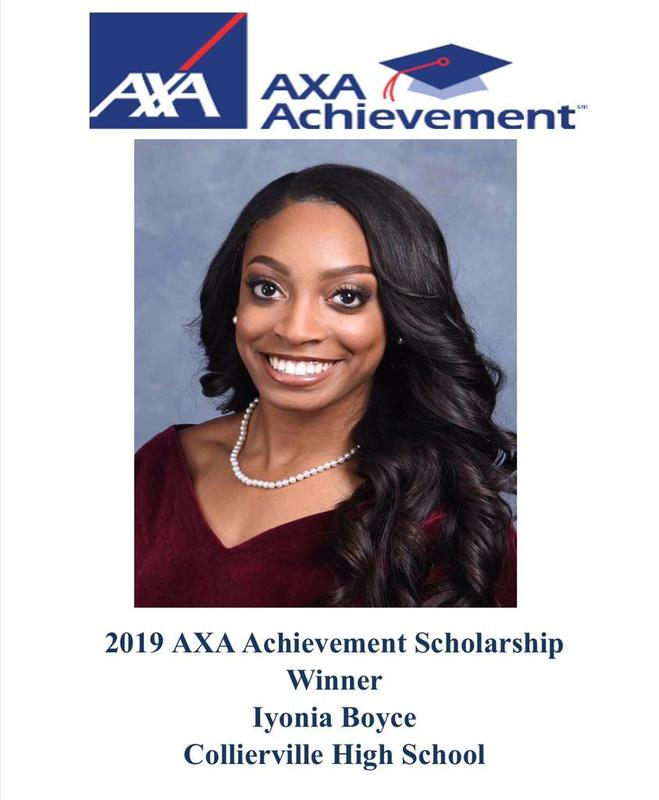 Iyonia Boyce Received a 2019 AXA Achievement Scholarship for Community Service Featured Photo