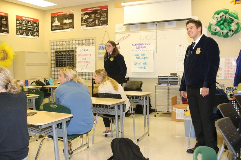 Taylor HS FFA officers