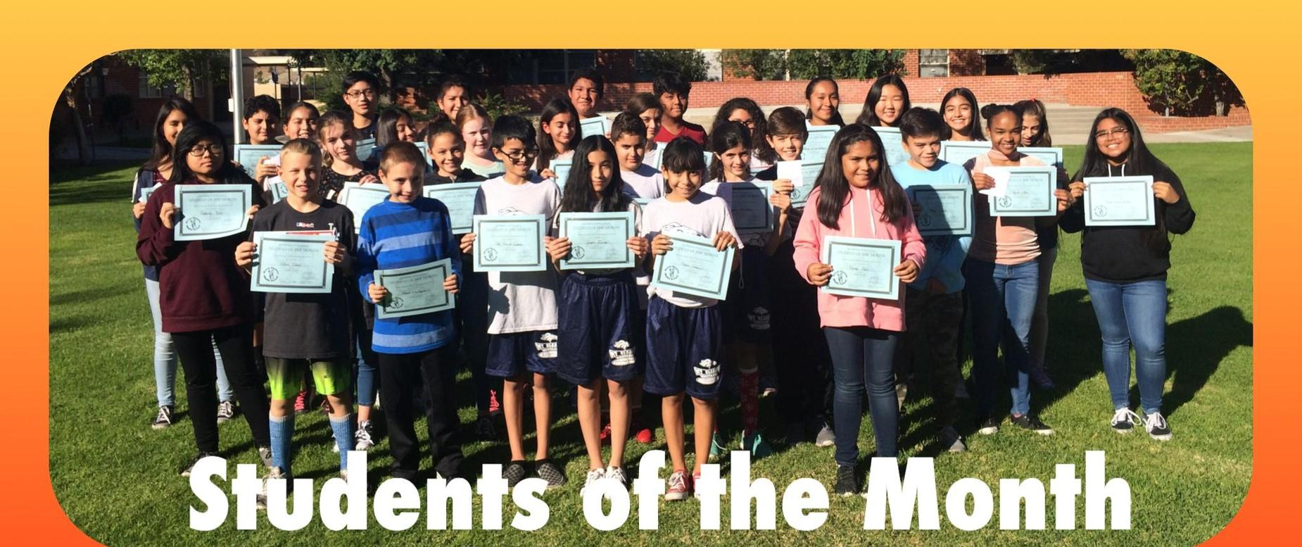 October 2017 Student of the Month