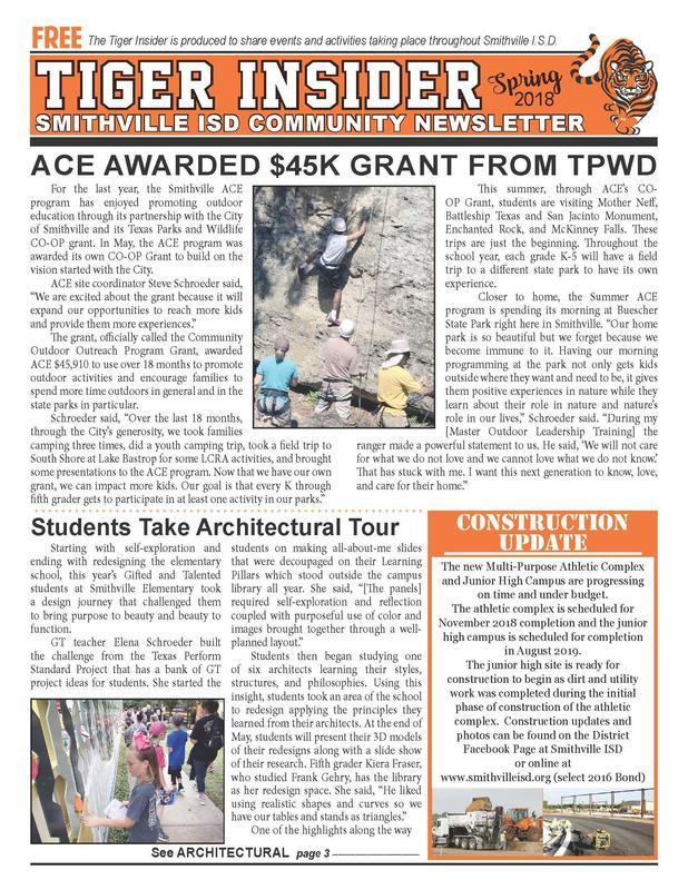 2018 Tiger Insider Newsletter Thumbnail Image