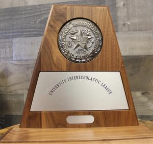 UIL Sweepstakes Award trophy