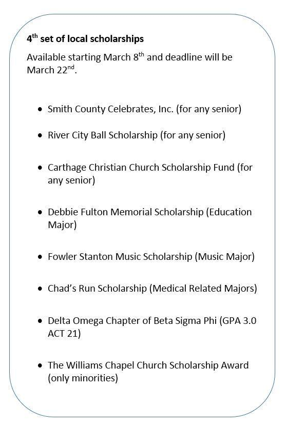 Local Scholarships – Guidance – Smith County High School