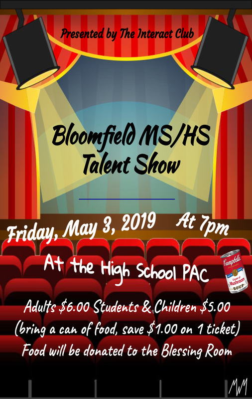 image of the talent show poster