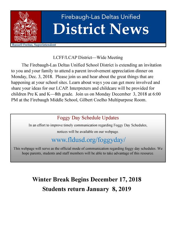 Front Page of 2018 Winter Newsletter.