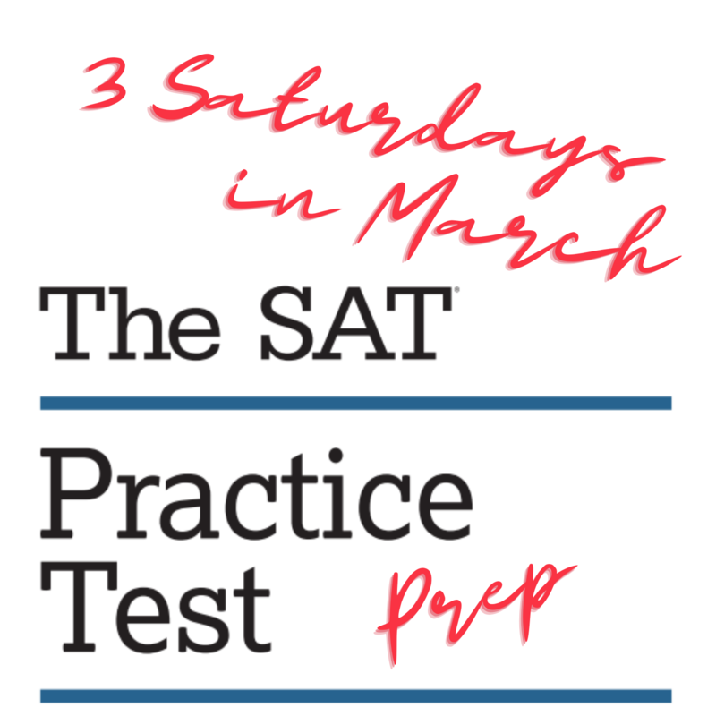 SAT prep 3 Saturdays in March