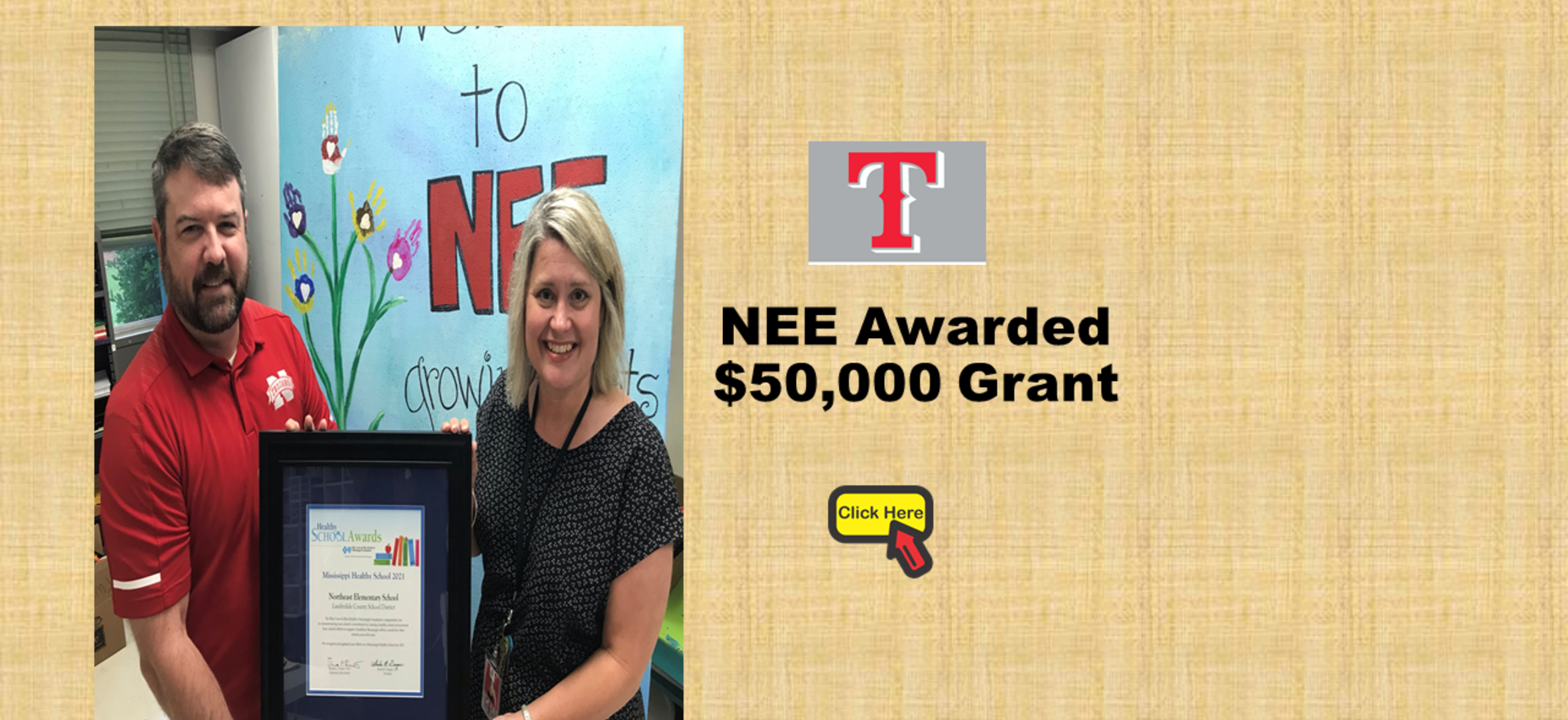 NEE BCBS Grant Award Photo