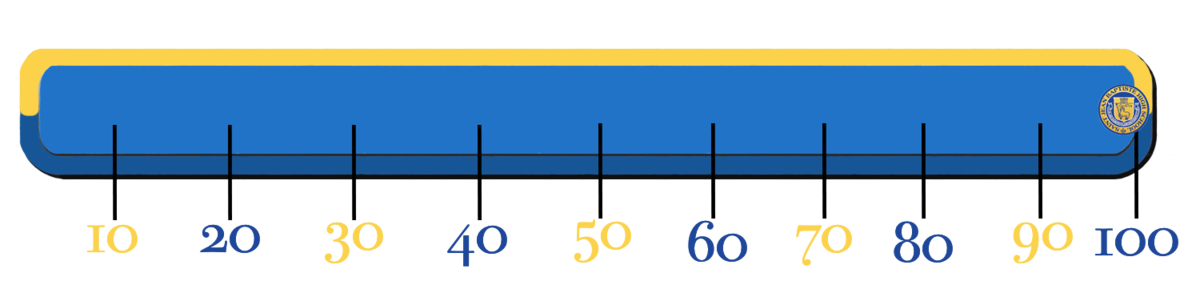 Progress bar showing 100%