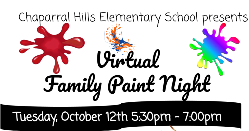 Coversheet of Virtual Family Paint Night flyer