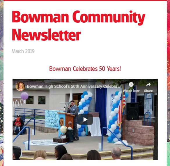 Bowman newsletter image