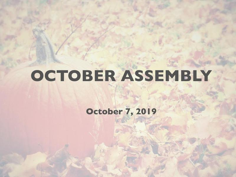 Condor October Assembly Featured Photo