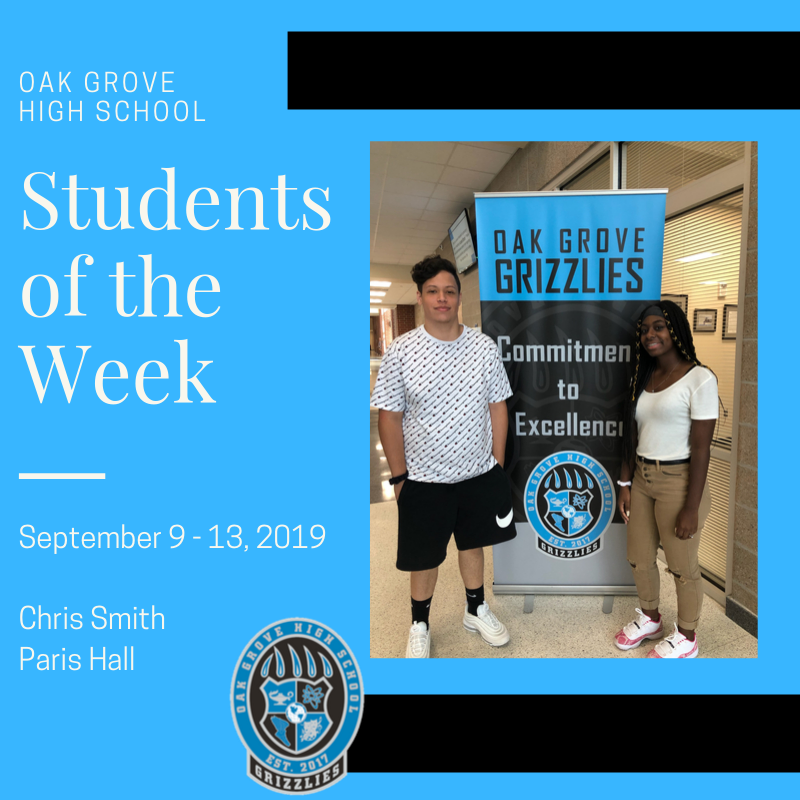 Students of the Week September 9-13: Chris Smith and Paris Hall