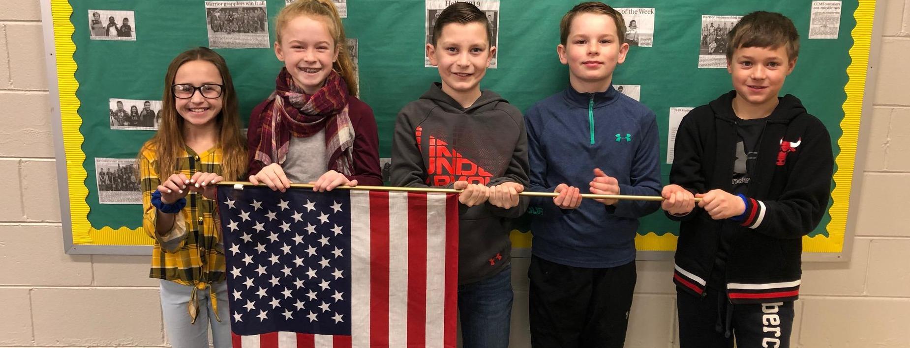 Pledging allegiance to the flag
