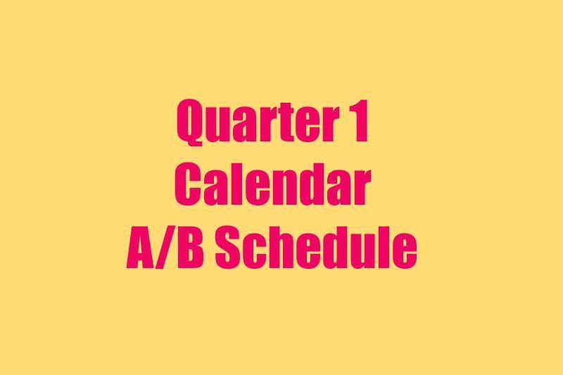 Image Q1 Schedule