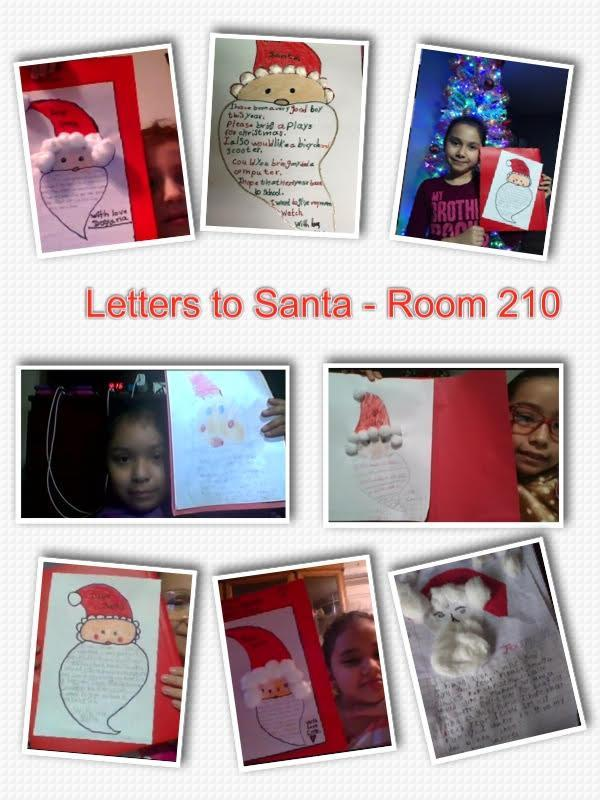 Letters to Santa collage