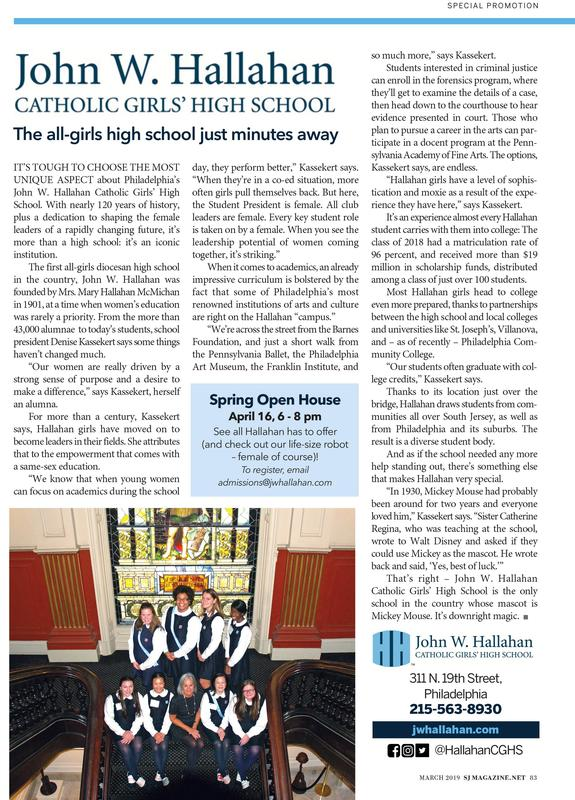 Hallahan featured in SJ Magazine! Featured Photo