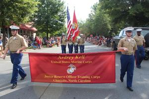 Ardrey Kell MCJROTC in July Fourth parade
