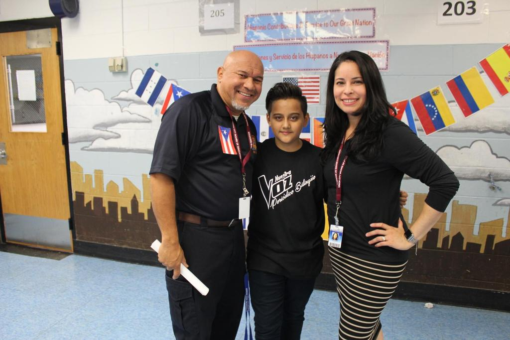 Mr. Navarro a male student and Mrs. Fernandez