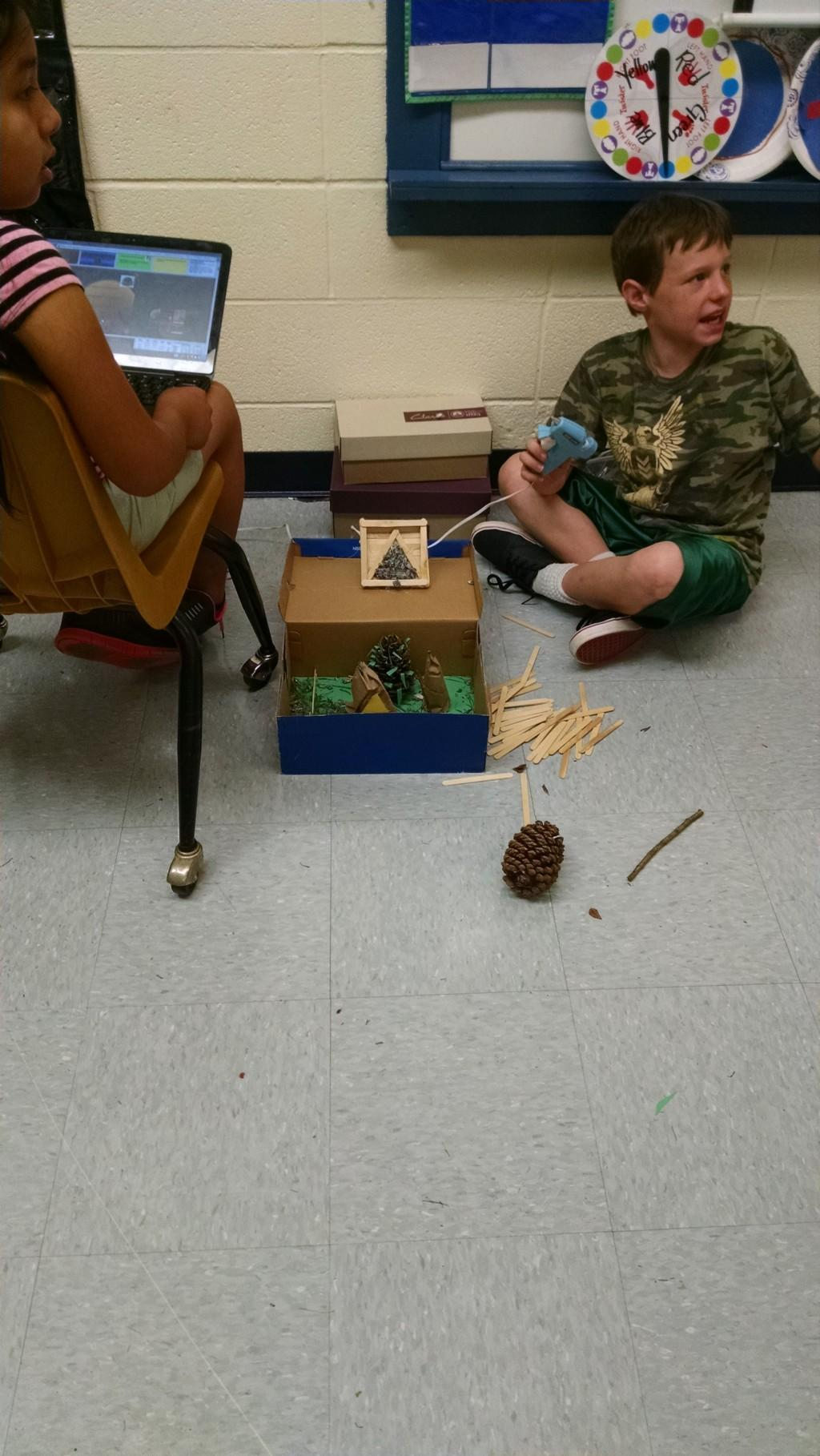 Fun making Native American Diorama