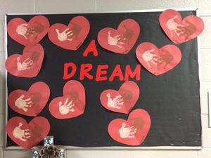 Preschool art for MLK Jr. Day