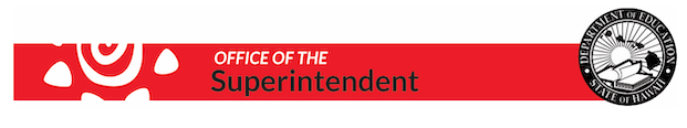 Office of the Superintendent Banner for Distance learning survey for secondary students