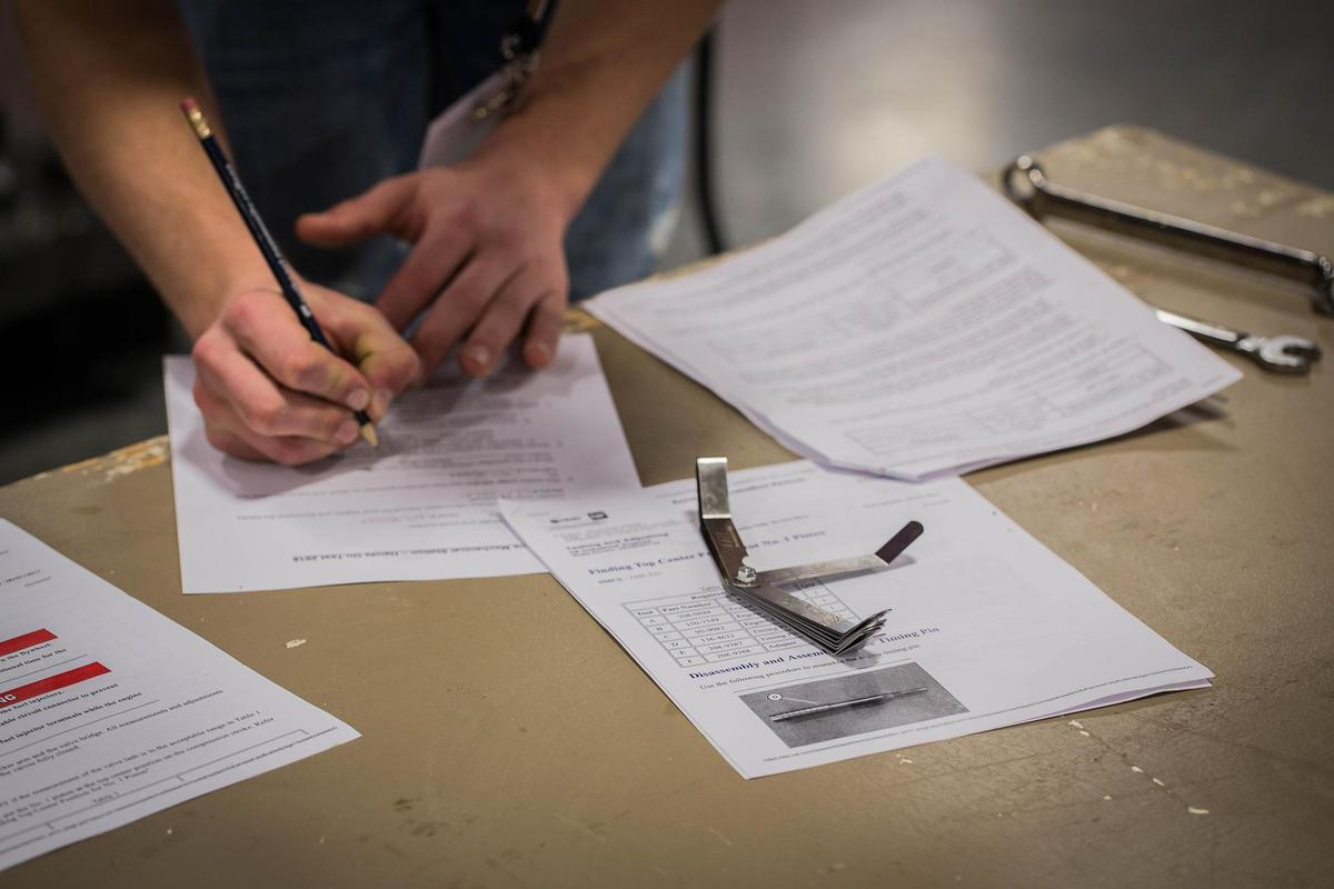 photo of student taking a test
