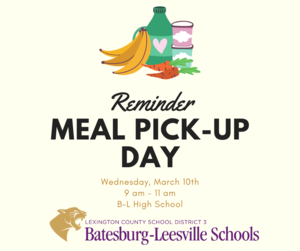 Free Meal Pick-Up Event Planned for March 10th