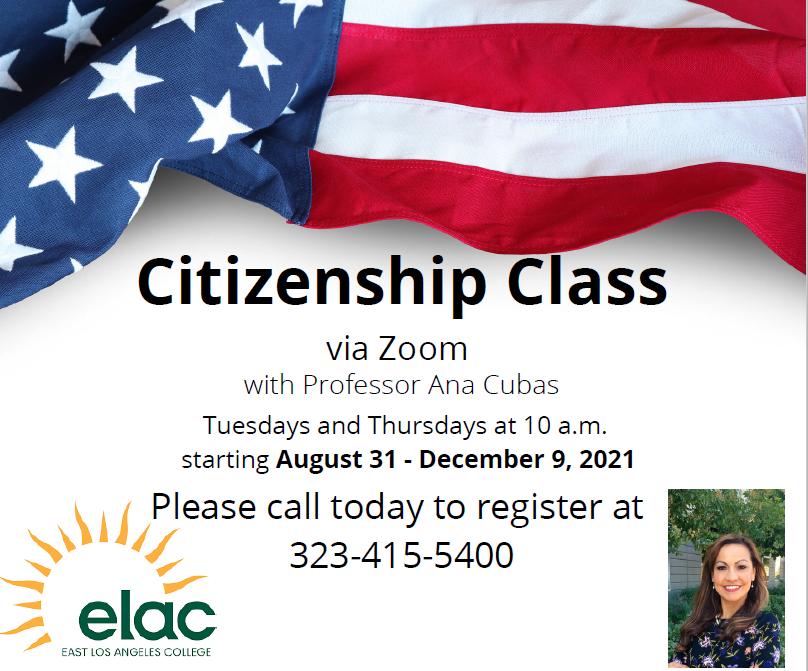 ELAC CItizenshp Class Fall 2021