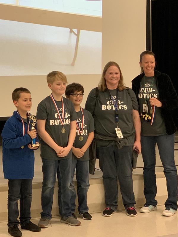 Robotics first place team