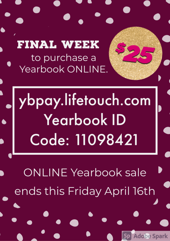 final week to purchase a yearbook