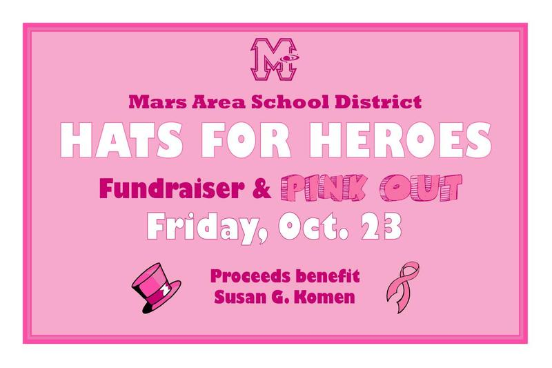 Mars Area School District Hats for Heroes Fundraiser and Pink Out