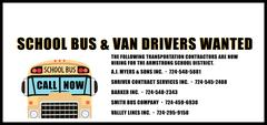 School Bus & Van Drivers Wanted