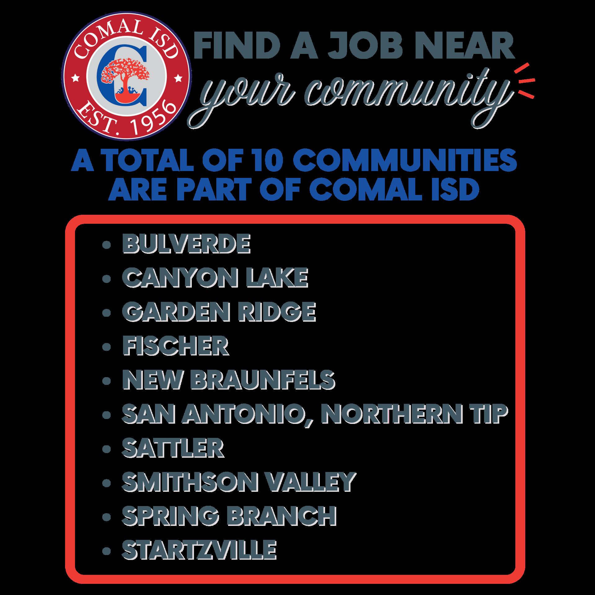 A job near your community