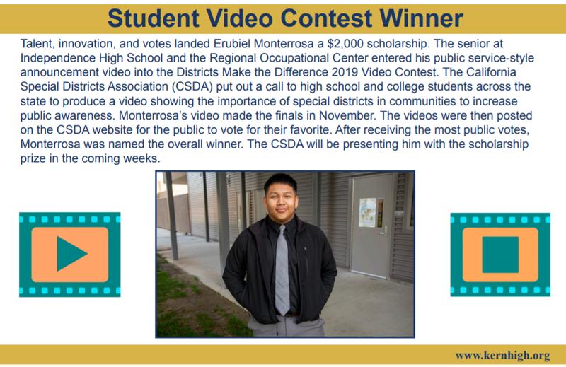 Senior Erubiel Monterrosa wins $2000 scholarship! Thumbnail Image