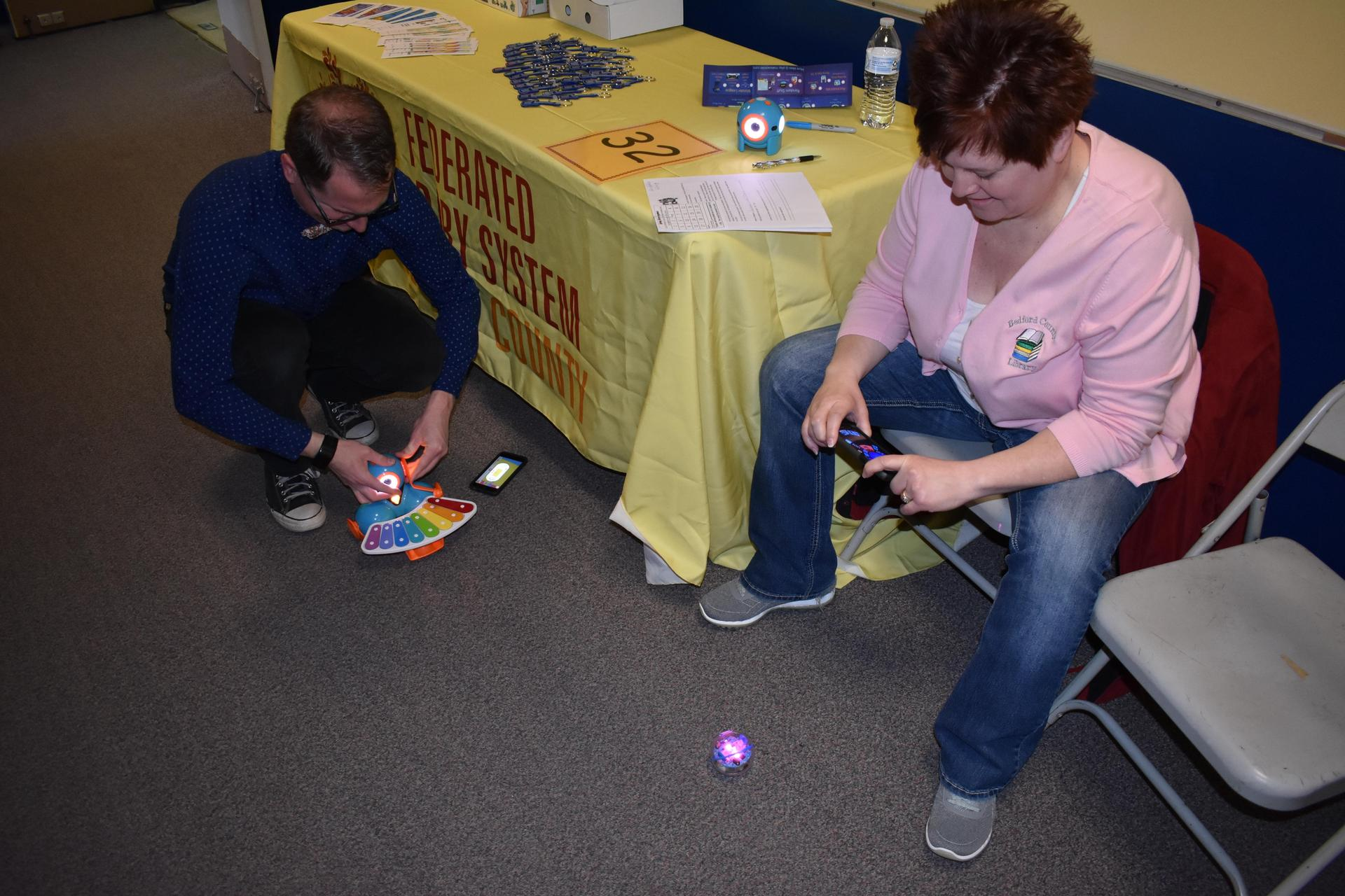Ozobots with Bedford County Library