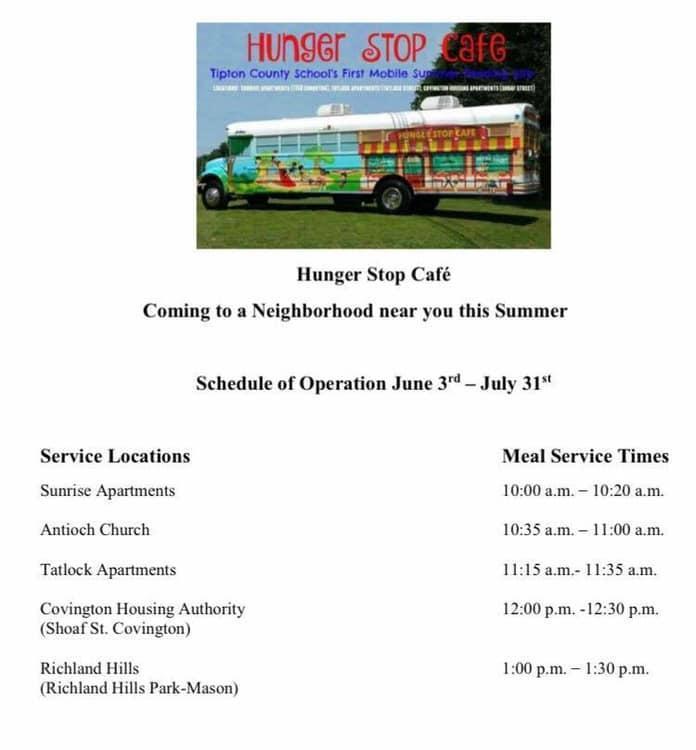 Tipton County Mobile Cafe.