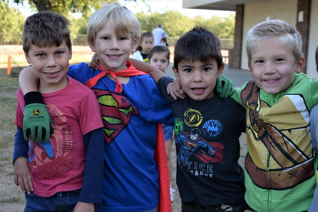 Students dressed as superheros
