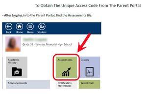 Access code through Parent Portal in Tyler