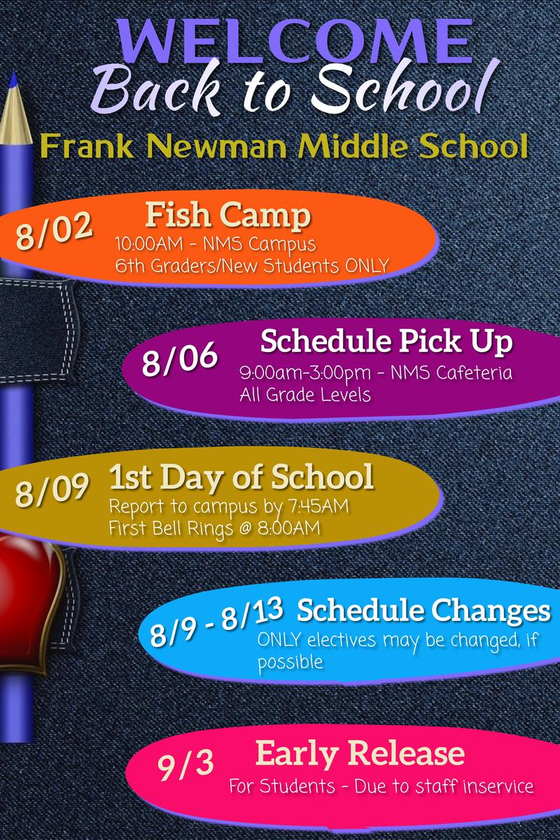 Back to School Schedule Featured Photo