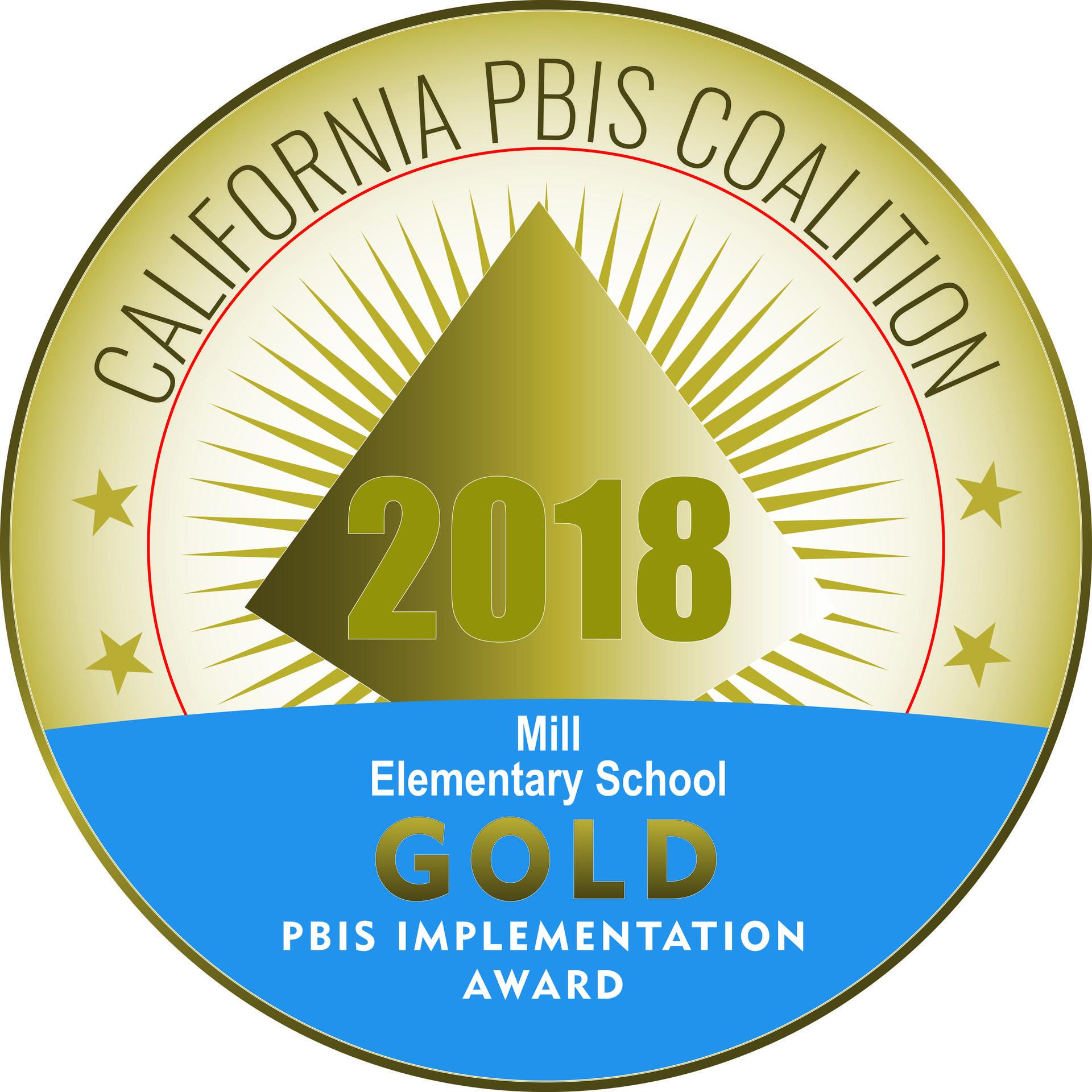 2018 PBIS Gold Award Logo