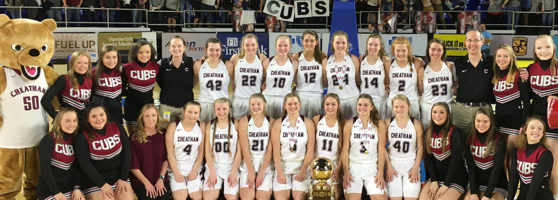 The Cheatham County Central High School Lady Cubs won the 2019 Class AA state basketball championship.
