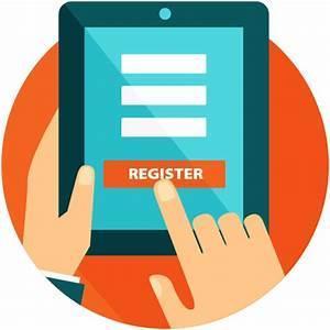 tablet that says registration