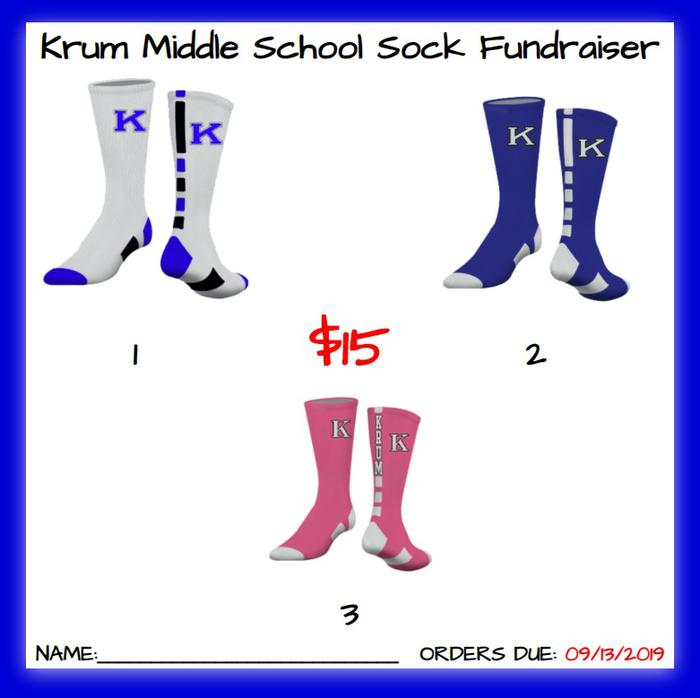KMS will be selling Krum Spirit Socks from now until September 13th. Featured Photo